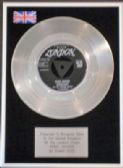"DUANE EDDY -7"" Platinum Disc- REBEL ROUSER"